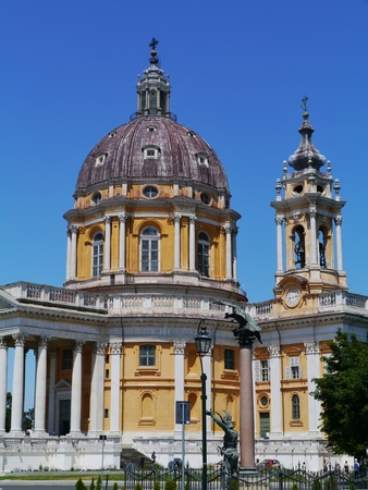 vicinity: The Basilica of Superga is a church in the vicinity of Turin