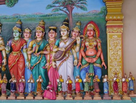 mariamman: Sri Maha Mariamman hindu temple in Kuala Lumpur in Malaysia