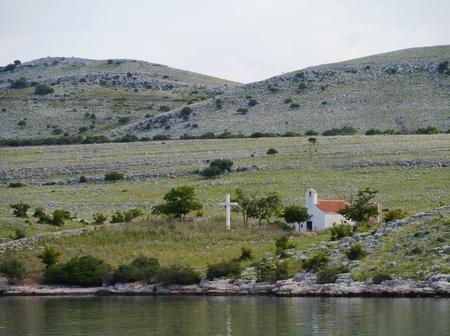 kornat: A chapel on the island Kornat in the Adriatic sea of Croatia