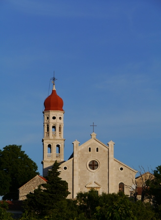The Parish church of St Francis of the village Betina at the north-eastercoast of the Island Murter in Croatia photo