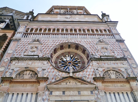cappella: A detail of the Cappella Colleoni  a church and mausoleum in Bergamo in northern Italy
