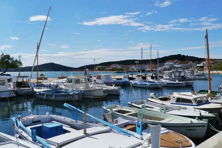 murter: The small harbour of the village Betina on the island Murter in Croatia