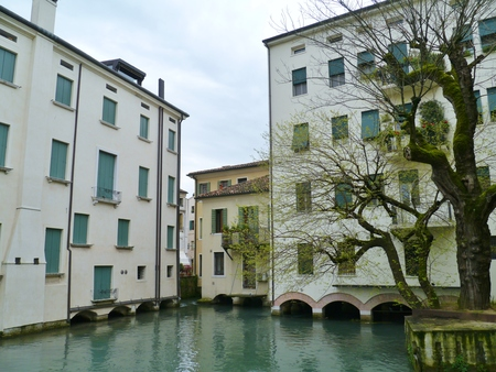 The river Sile in Treviso  a city and comune in Veneto in northern Italy