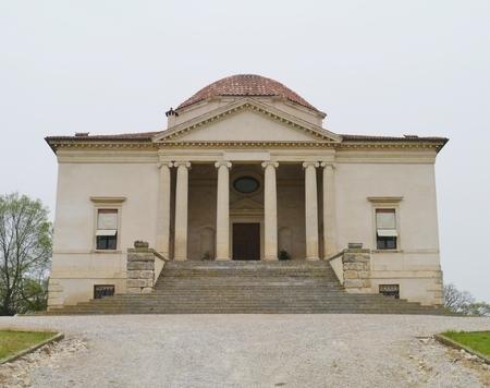 entranceway: La Rocca Pisana villa in Lonigo in Italy  Editorial