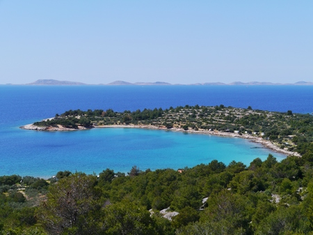 The Kosirina bay of the island Murter in Croatia photo