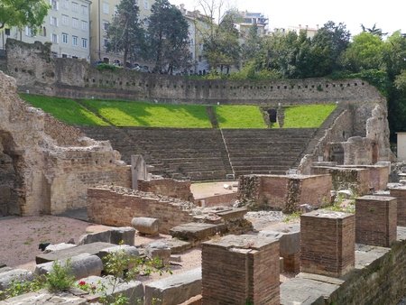 trieste: The old Roman Theater inTrieste in Northern Italy