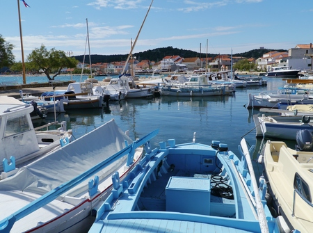 betina: The small harbour of the village Betina on the island Murter in Croatia with