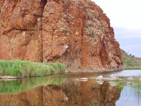 ranges: The Glen Helen gorge in the Mcdonnell ranges in Australia Stock Photo