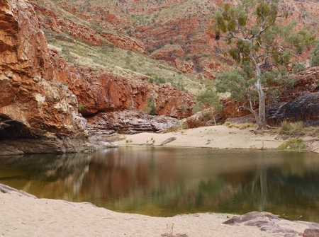 ranges: The Ormiston gorge in the Mcdonnell ranges