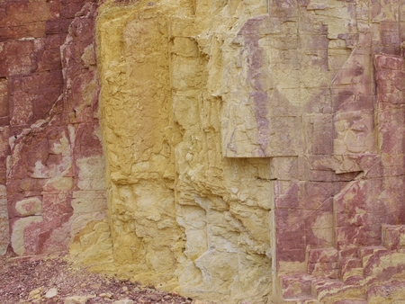 pits: Ochre Pits in the West MacDonnell Ranges in the northern Territories in Australia