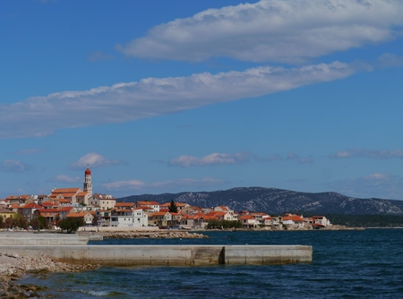 The Croatian village Betina on the island Murter in the Adriatic sea in Croatia photo