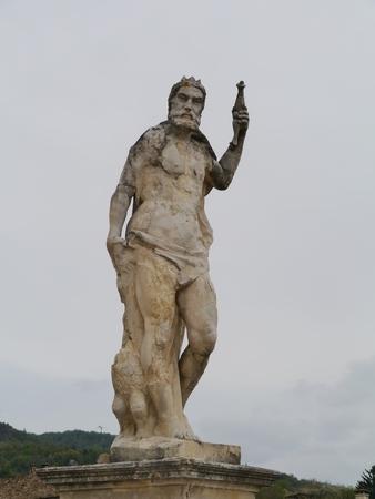 barbaro: A sculpture in the garden of the villa Maser