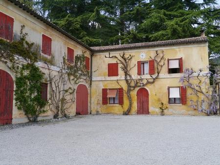 barbaro: The courtyard of the Villa Barbaro