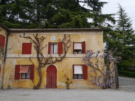 barbaro: The courtyard of the Villa Barbaro also known as the Villa di Maser in Italy