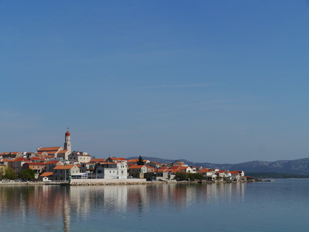 The village Betina at Murter in Croatia