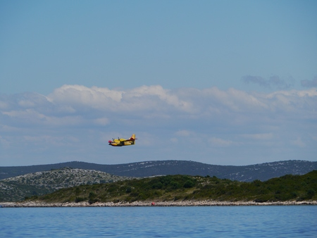 An exercise of the fireguard above the Kornati archipelago photo