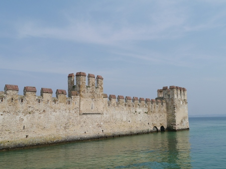 sirmione: The harbor of the Scaliger Castle in Sirmione