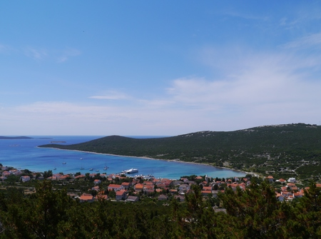 ist: The bay of the village Ist on the island Ist in the Adriatic sea of Croatia