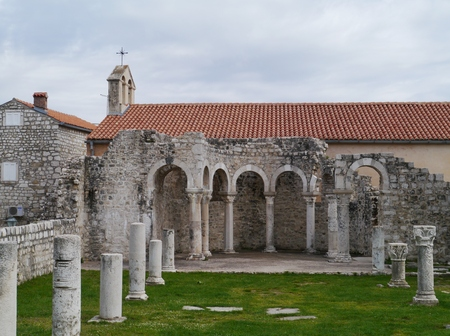 The remains of the St John monastery in Rab in Croatia photo