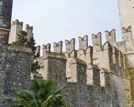 sirmione: The Scaliger Castle in Sirmione in Italy