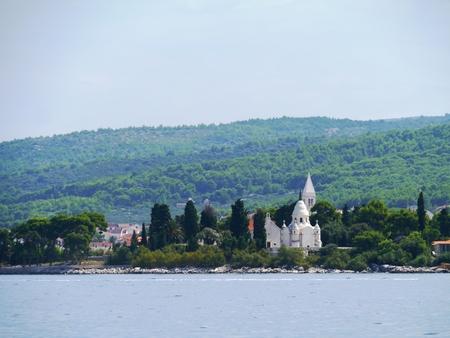 mausoleum: A mausoleum in Supertar on the island Brac in the Adriatic sea of Croatia