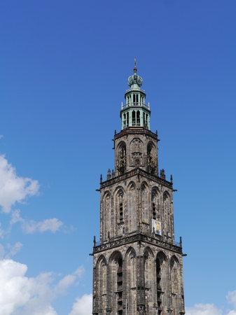 groningen: De Martinitoren in Groningen in Nederland