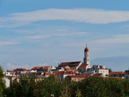 The village Betina at the island Murter in teh Adriatic sea of Croatia photo