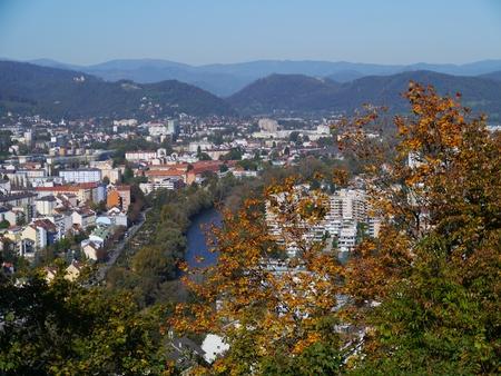 Panoramic view of Graz in Austria