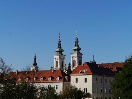 Church of Our Lady of Succor (Mariahilferkirche) in Graz in Austria Stock Photo