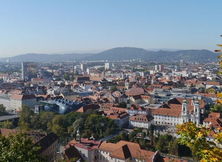 View of the historic city Graz in Austria