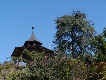 The Chinese Pavillion on Schlossberg hill in Graz in Austria