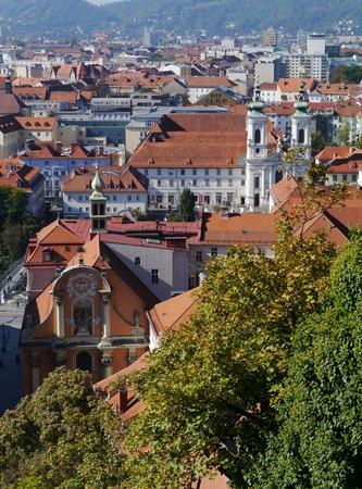 View of Graz in Austria