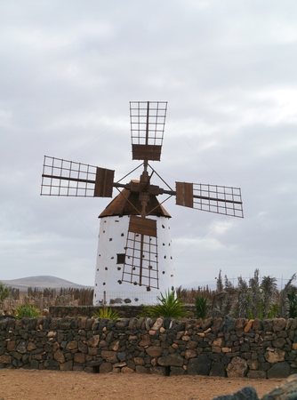 wind mill: Historic wind mill in the surroundings of El Cotillo