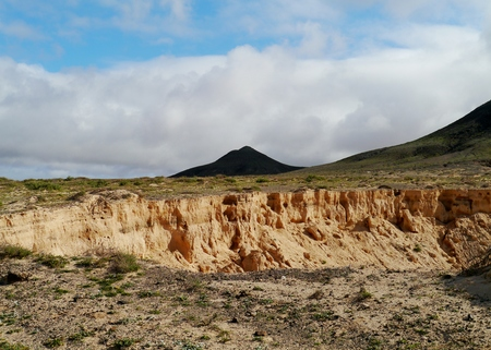sand quarry: A sand quarry in the surroundings of El cotilla on the island  Fuerteventura  in Spain