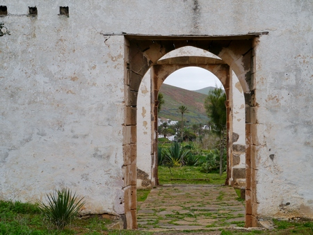franciscan: The remains of the former Franciscan monastery Conjvento de San Buenaventura in Betancuria on the Canary island Fuerteventura in Spain