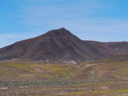 southwest: The mountains on the Jandia peninsula at the south west end of the Canary Island Fuerteventura in Spain Stockfoto