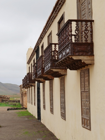 oliva: The house of the colonels in La Oliva on the island  Fuerteventura one of the Canary islands in the Atlantic Ocean belonging to Spain