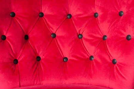bottons: red upholstery with bottons