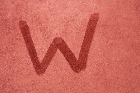 alphabetic character: Letter W Stock Photo