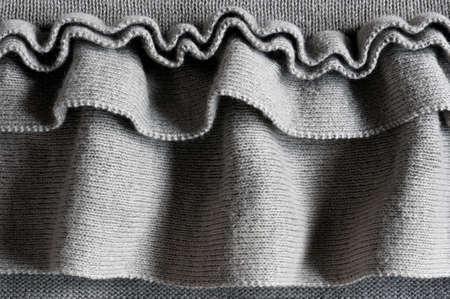fluting: soft ruffles, close up