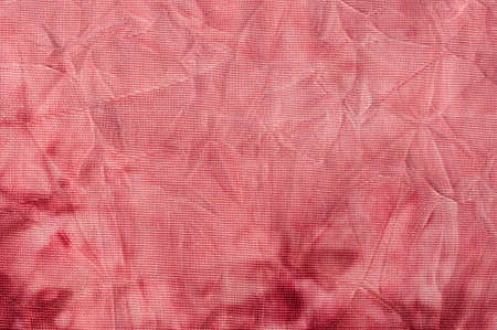 crinkled: rose red crinkled batik textile