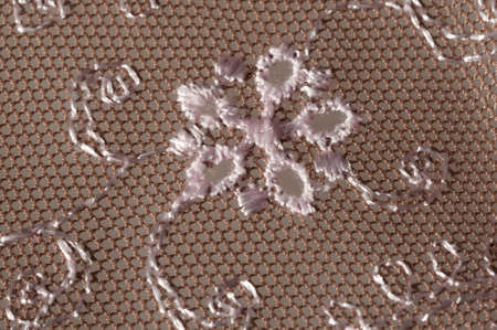 flowery: flowery embroidered lace