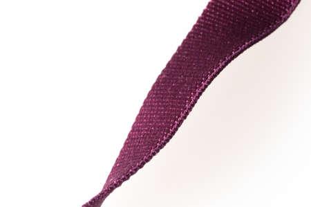 slightly: slightly curved textile ribbon