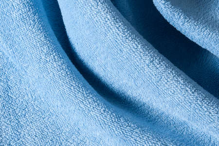 terrycloth: drapes in blue terry cloth