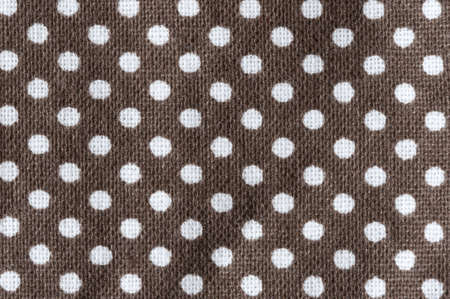 white dots on brown fabric, macro Stock fotó