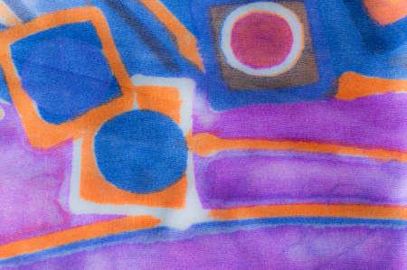 lila: silk painting