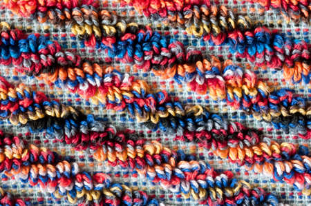 terrycloth: diagonal colorful frottee pattern