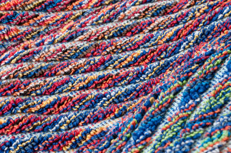 terrycloth: color mixed frottee fabric Stock Photo