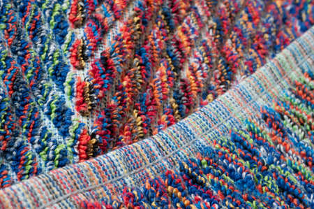 terrycloth: seam of a towel, close up Stock Photo