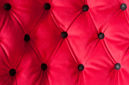 matress: padded red velvet Stock Photo